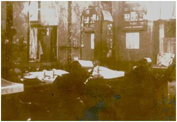 Der Salon in den 30iger Jahren in Holzweißig, Roitzscher Str. 3